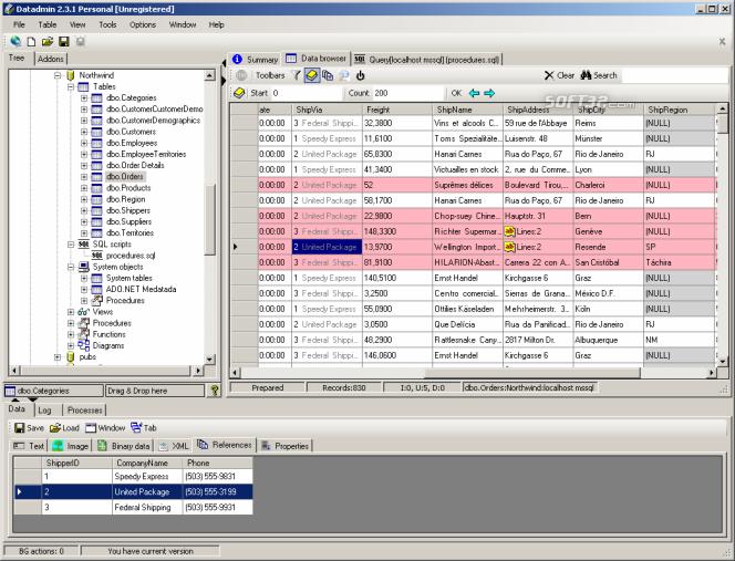 DatAdmin Personal Screenshot 2