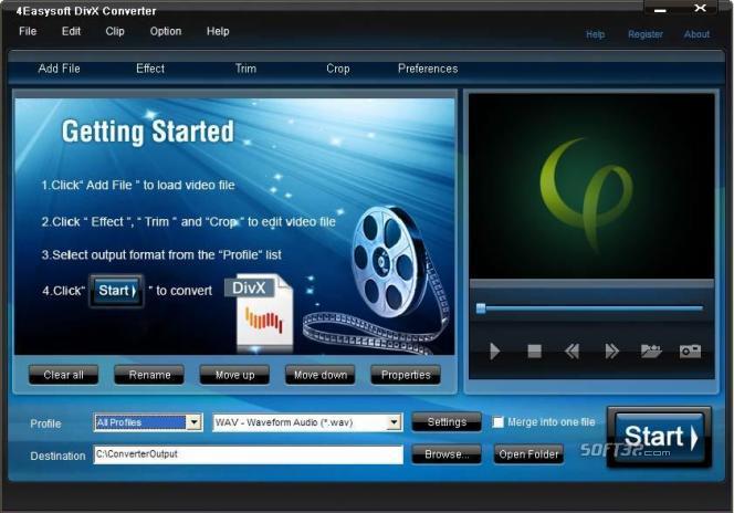 4Easysoft DivX Converter Screenshot 2