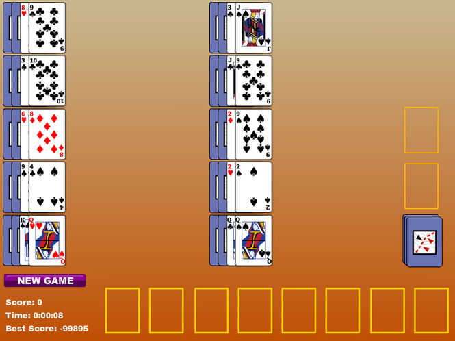 Single Pass Indian Solitaire Screenshot 1