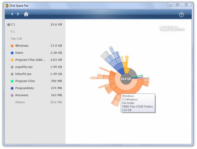 Disk Space Fan Screenshot 2