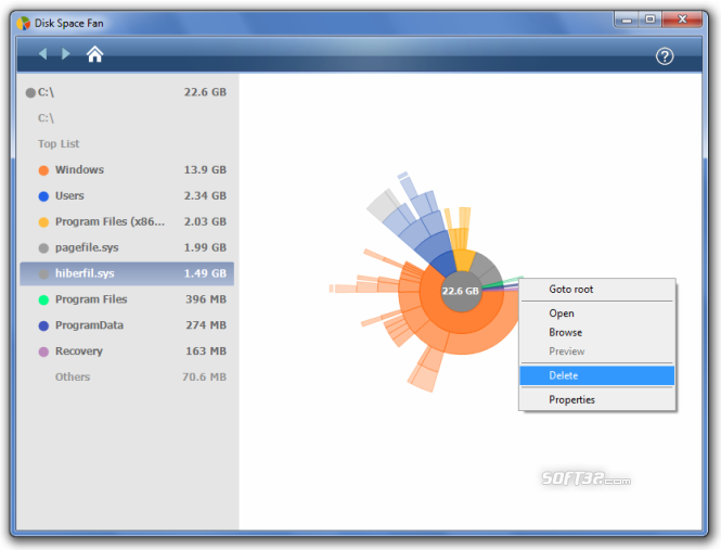Disk Space Fan Screenshot 3