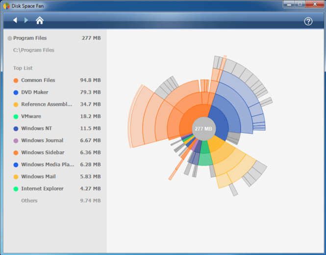 Disk Space Fan Screenshot 1