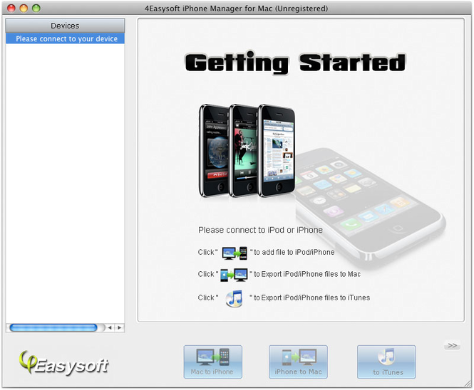 4Easysoft iPhone Manager for Mac Screenshot