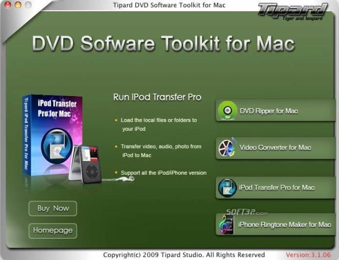 Tipard DVD Software Toolkit for Mac Screenshot 2
