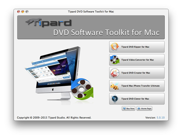 Tipard DVD Software Toolkit for Mac Screenshot