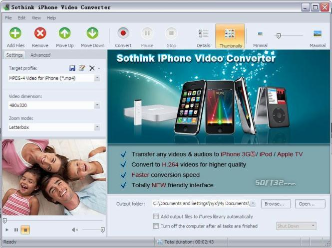 Sothink iPhone Video Converter Screenshot 2