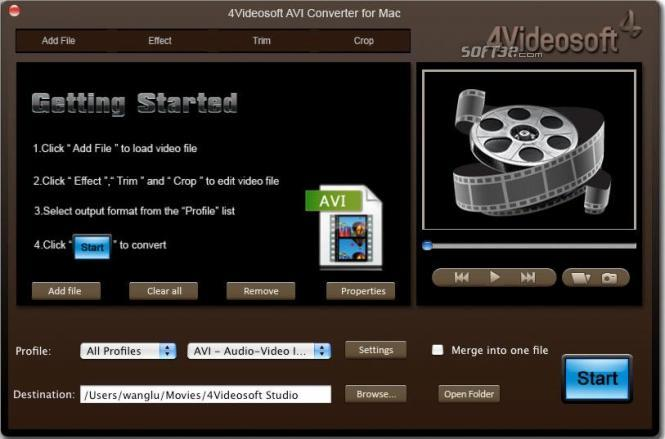 4Videosoft AVI Converter for Mac Screenshot 2