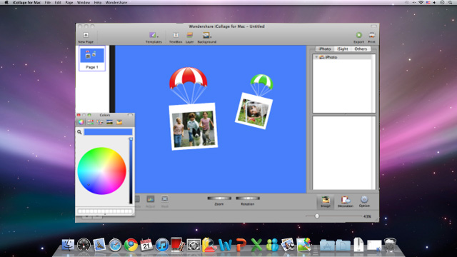 Wondershare iCollage for Mac Screenshot