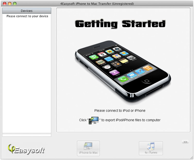 4Easysoft iPhone to Mac Transfer Screenshot