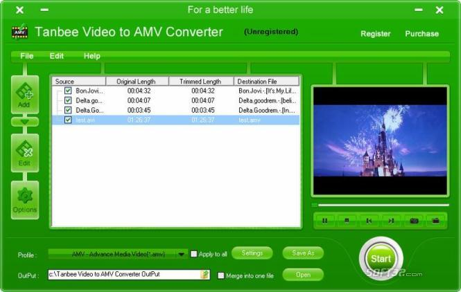 Tanbee Video to AMV Converter Screenshot 1