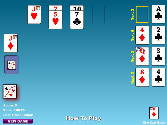Calculation Solitaire Game Screenshot