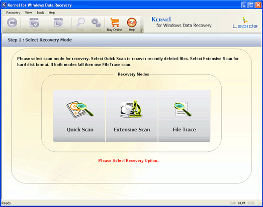 XP Partition Recovery Screenshot 1