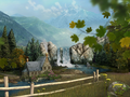 Mountain Waterfall 3D Screensaver 3