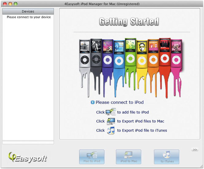 4Easysoft iPod Manager for Mac Screenshot 1