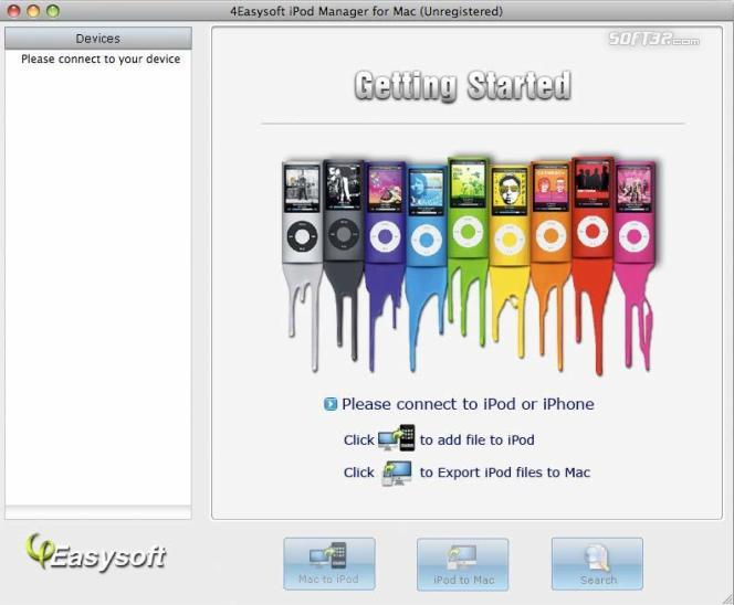 4Easysoft iPod Manager for Mac Screenshot 2