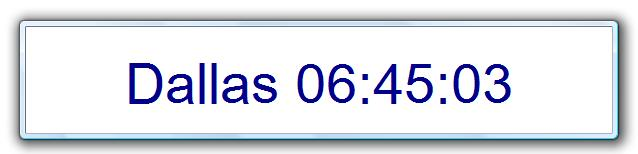 Configurable Desktop Clock Screenshot