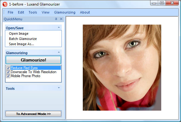 Luxand Glamourizer Screenshot