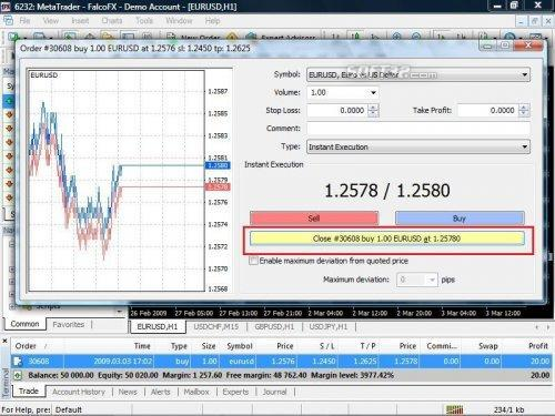 Falcofx Metatrader Screenshot