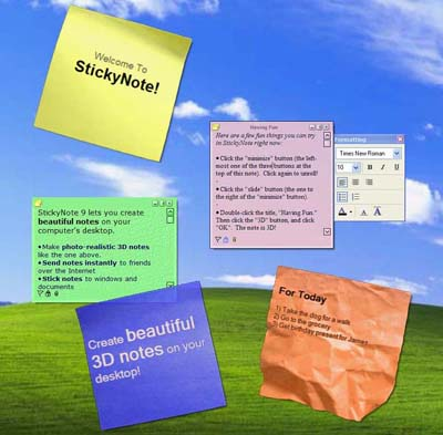 Sticky Notes Screenshot