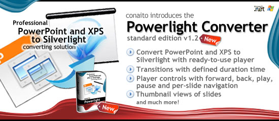 Powerlight Converter - Easy and rapid PowerPoint and XPS to Silverlight converting Screenshot