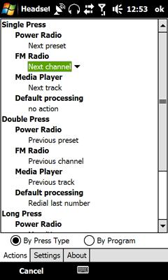 Headset Button Screenshot