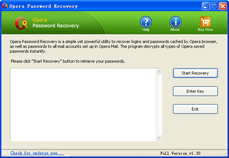 Opera Password Recovery Screenshot