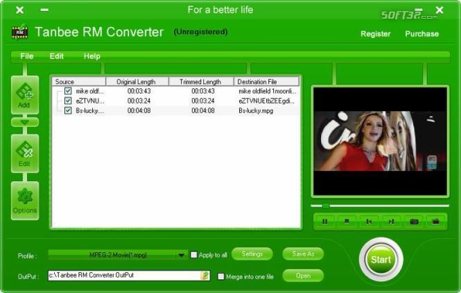 Tanbee RM Converter Screenshot