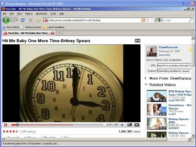 Virtual Browser Screenshot