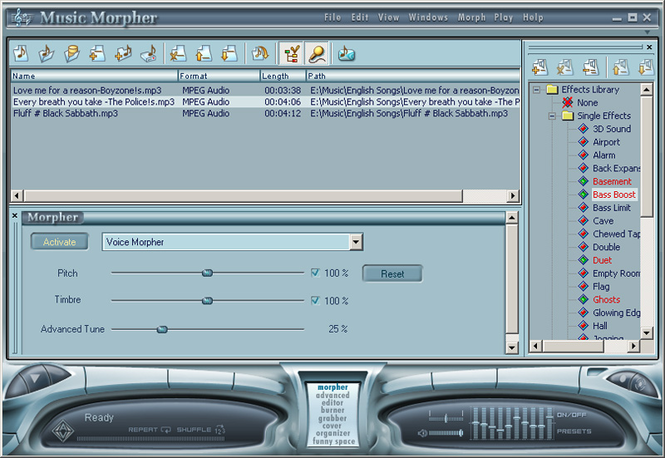 AV Music Morpher Screenshot 1