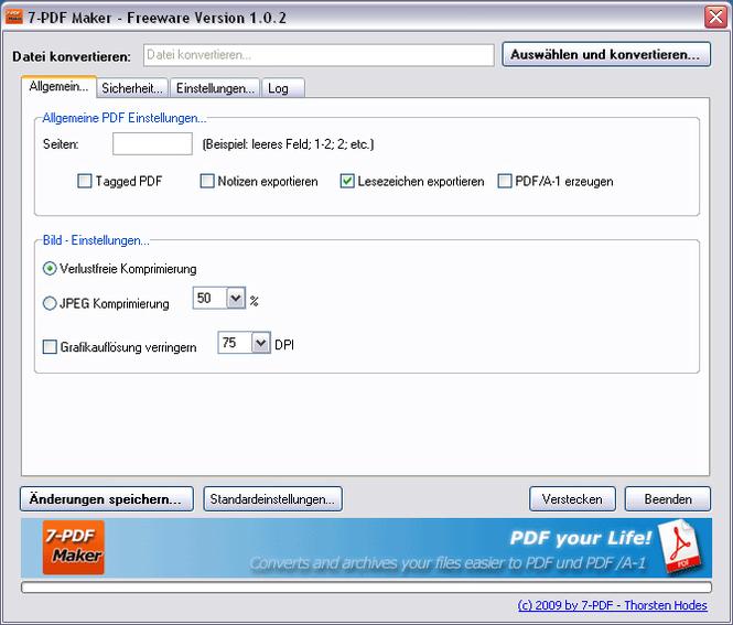 7-PDF Maker Screenshot 1