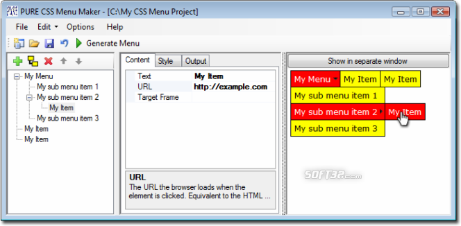 PURE CSS Menu Maker Screenshot 2