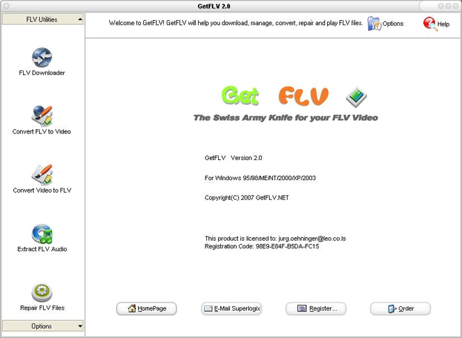 GetFLV Screenshot 1