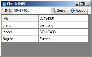 CheckIMEI Screenshot 1