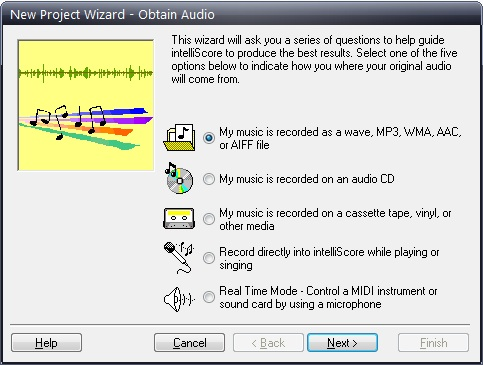 Intelliscore Polyphonic WAV to MIDI Converter Screenshot 1