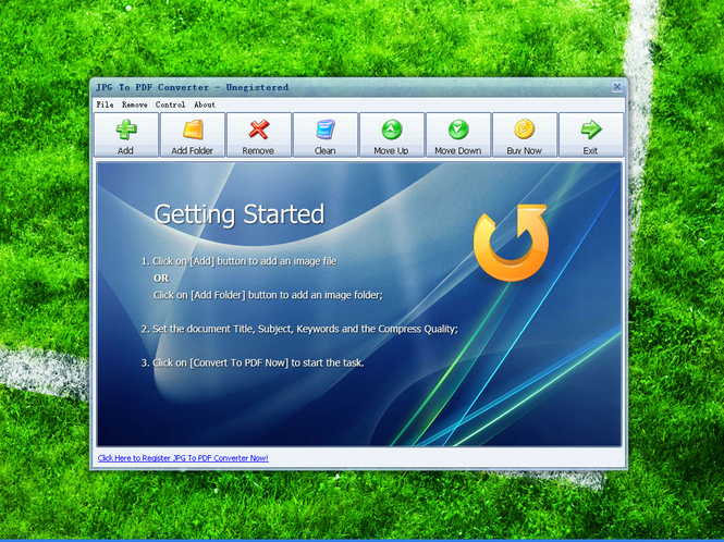JPG To PDF Converter Screenshot