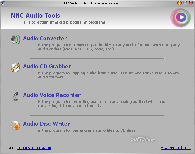 NNC Audio Tools Package Screenshot 2