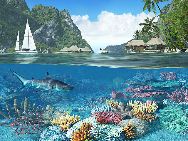 Caribbean Islands 3D Screensaver Screenshot