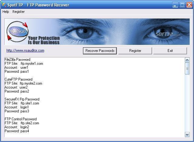 SpotFTP Password Recover Screenshot 3