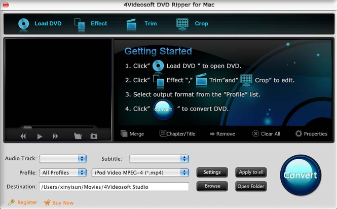 4Videosoft DVD Ripper for Mac Screenshot