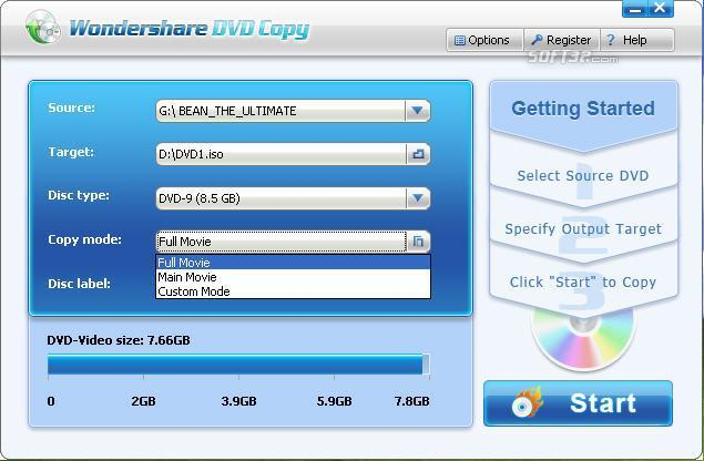 Wondershare DVD Copy Screenshot