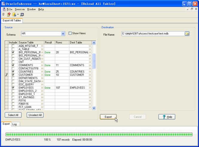 OracleToAccess Screenshot 1
