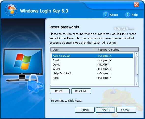 Windows Logon Key Screenshot