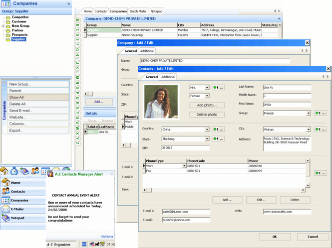 A-Z Contacts Manager Screenshot 2