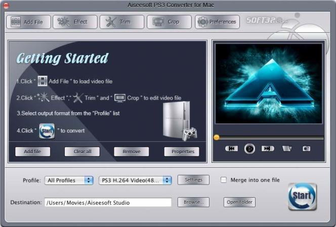 Aiseesoft PS3 Converter for Mac Screenshot 3