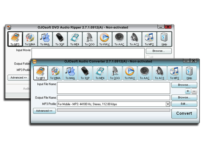 OJOsoft DVD Audio Converter Suite Screenshot