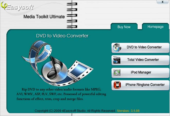 4Easysoft Media Toolkit Ultimate Screenshot