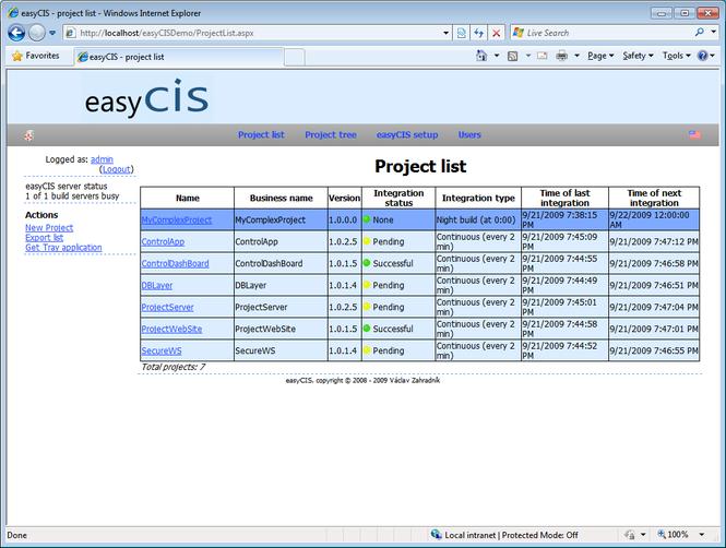 easyCIS Screenshot