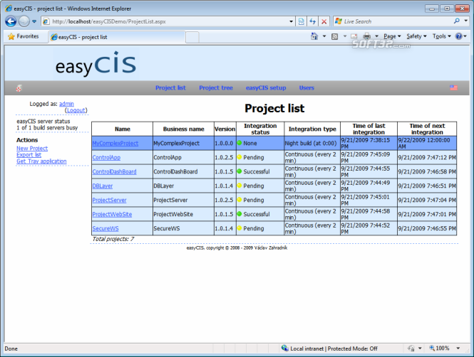 easyCIS Screenshot 3