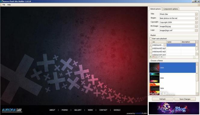 AuroraFlash Free Site Builder Screenshot 2