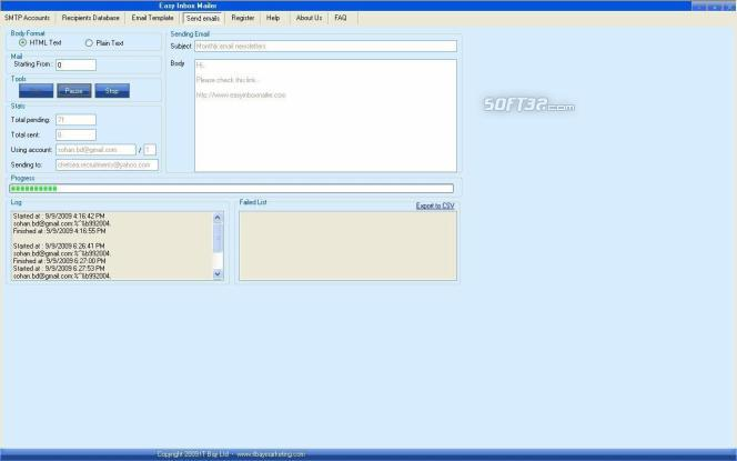 Easy Inbox Mailer Screenshot 2
